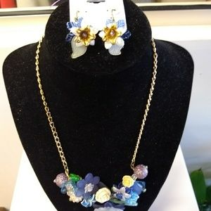 Jewelry - *Handmade* Floral Style Earrings & Necklace